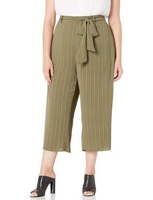 City Chic Women's Apparel Women's Plus Size Pant Stripe Flair