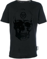 Philipp Plein flocked skull T-shirt - men - Cotton - S