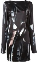 Ann Demeulemeester asymmetric drape dress - women - Silk/Spandex/Elastane - 34