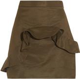 MSGM Ruffled cotton-blend faille mini skirt