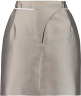 Carven Grosgrain-trimmed mikado mini skirt