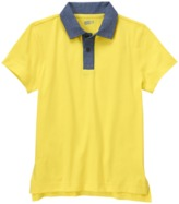 Crazy 8 Chambray Trim Polo