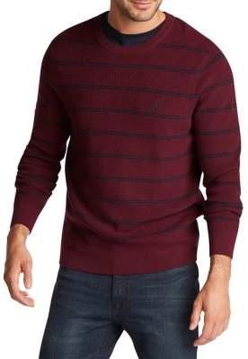 Nautica Striped Cotton-Blend Sweater
