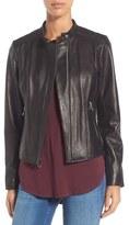 Andrew Marc 'Liv' Lambskin Leather Jacket