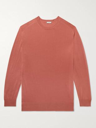 Caruso Slim-Fit Wool Sweater - Men - Orange