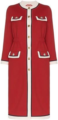 Gucci Collarless Wool Coat