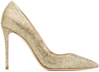 Casadei sequined Blade pumps