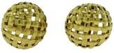 Tiffany & Co. 18K Yellow Gold Vannerie Basket Weave Cufflinks