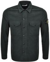 Stone Island Long Sleeved Shirt Green
