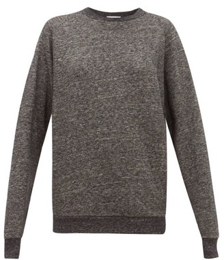 Raey Raglan-sleeve Cotton-blend Sweatshirt - Dark Grey