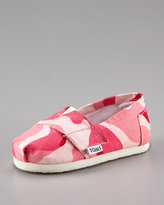 TOMS Tiny  Girls' Camo Slip-On