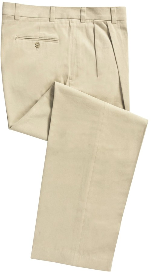 Specially made Cotton Twill Pants - Pleated Front (For Men)