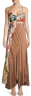 Chloé Mixed-Print Maxi Dress