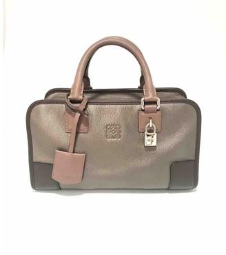 Loewe Amazona Metallic Leather Handbags