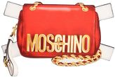 Moschino Bag Tabs Printed Leather Clutch