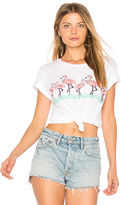 Lauren Moshi Evie Flamingo Crop Tee