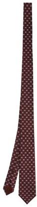 Gucci GG-jacquard Silk Tie - Burgundy