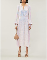 Temperley London Constellation sequinned silk maxi dress