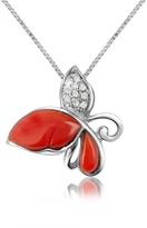 Del Gatto Diamond Gemstone Butterfly 18K Gold Pendant Necklace