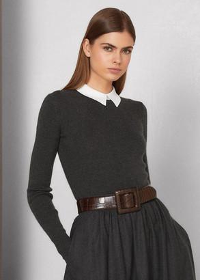 Ralph Lauren Collared Cashmere Sweater