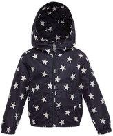 Moncler Houri Hooded Star-Print Rain Jacket, Navy, Size 4-6