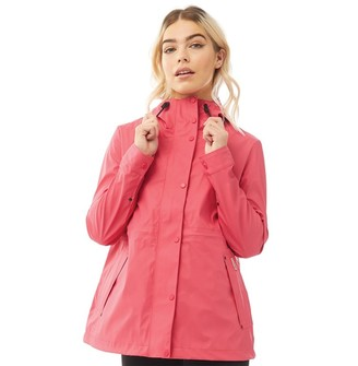 Hunter Womens Original Lightweight Rubberised Jacket Bright Pink