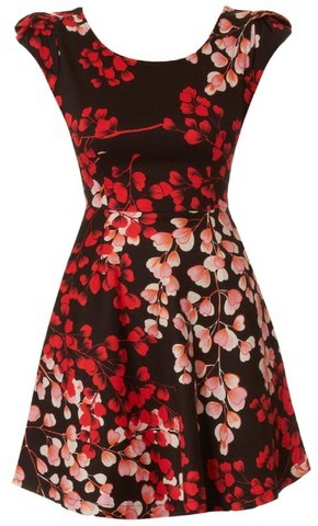 Louche London Lilli-Rose Dress Black Red