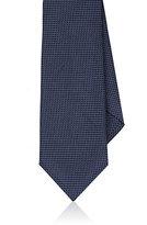 Barneys New York Men's Micro-Circle Silk Necktie-NAVY