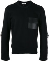 Valentino bondage detailed sweatshirt - men - Cotton/Leather/Polyamide - S