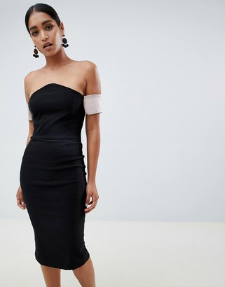 Vesper v bardot pencil dress