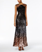 SL Fashions Sequined A-Line Gown