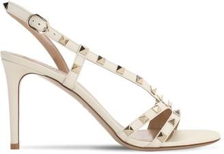 Valentino 85mm Rockstud Leather Sandals