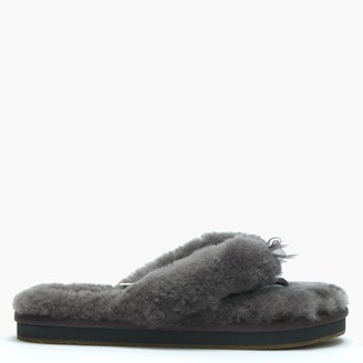UGG Women's Fluff II Grey Flip Flop Slippers