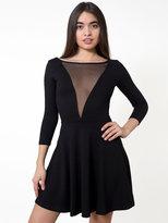American Apparel Ponte Gloria-V Skater Dress