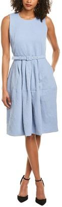 Samantha Sung Rachel Silk A-Line Dress