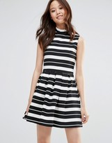 Wal G Skater Dress In Stripe