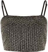 River Island Womens Black embellished cami crop top