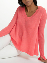 White + Warren Cashmere Swing V Neck