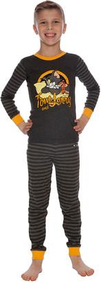 Intimo Boys' Sleep Bottoms PR864 - Tom & Jerry Charcoal Pajama Set - Toddler & Boys