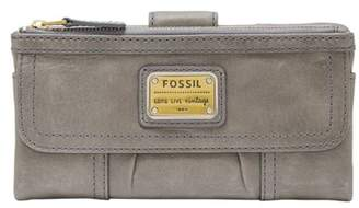 Fossil Emory Clutch Wallet Smokey Blue