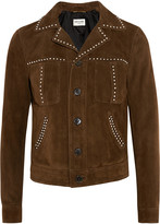 Saint Laurent Studded suede jacket