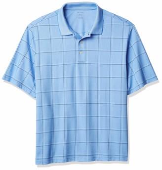 Van Heusen Men's Big & Tall Big Flex Short Sleeve Stretch Windowpane Polo Shirt