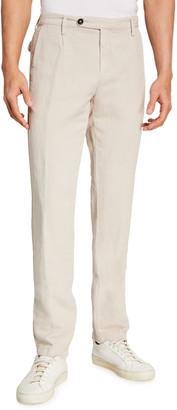 Massimo Alba Men's Slim-Fit Linen-Blend Chino Pants