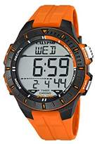 Calypso Unisex Digital Watch with LCD Dial Digital Display and Orange Plastic Strap K5607/1