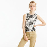 J.Crew Lightweight wool Jackie sweater shell in bow print