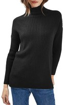 Topshop Women's Oversized Funnel Neck Sweater