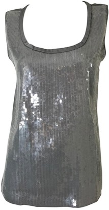 Elie Tahari Grey Silk Tops