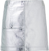 Paco Rabanne short metallic skirt - women - Cotton - 36