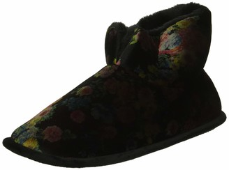 Dearfoams Women's Printed Velour Bootie Slipper