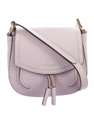 Marc Jacobs Grained Leather Crossbody Bag Purple
